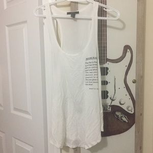 Forever 21 Tops - F21 White Graphic Tank